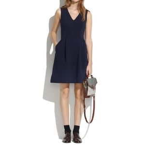 Madewell Navy blue fit and flare pocket dress